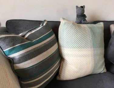 Comfy cushions in the cottage