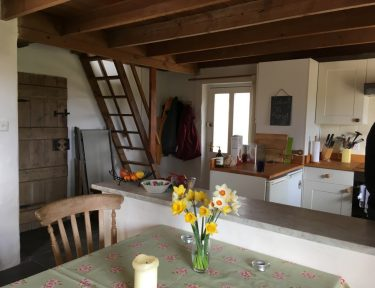 Cornish cottage kitchen and dining